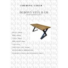 Jídelní stůl masiv D 130